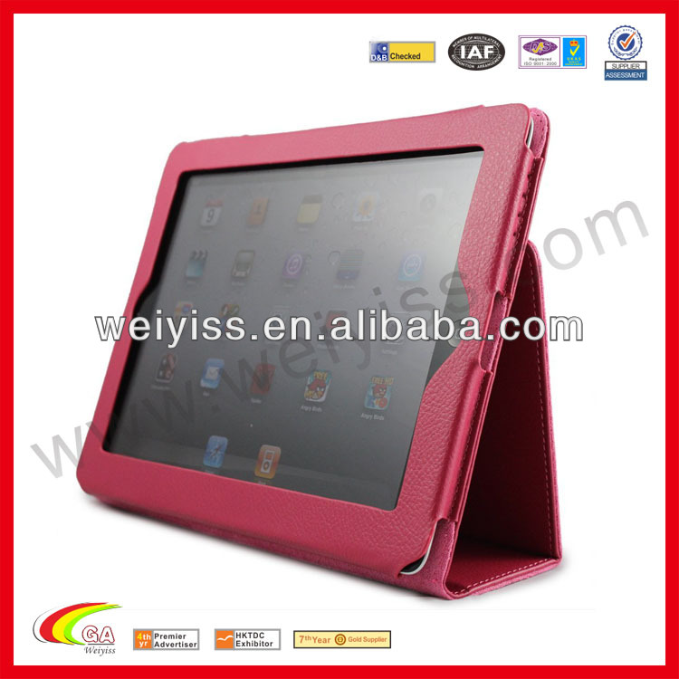 Genuine Leather smart cover case for ipad mini case