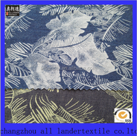 new design 100% cotton printing denim fabric wholesale printed denim fabric by the yard
