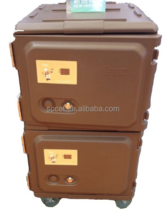 Electric food warmer carrier in catering Insulated hot food trolley