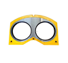 Concrete pump parts glasses plate and Cutting Ring for concrete mixer truck hydraulic pump
