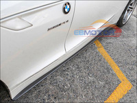 3D Type Real Carbon Fiber Side Skirts Add On Extension Lip for BMW E89 Z4 M Sport Model 2009UP B235