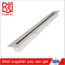 Newest square aluminum adjustable ceiling air conditioning bar grille linear slot air diffuser