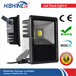 Narrow beam angle Bridgelux chip dimmable 70w dmx rgb outdoor led flood light