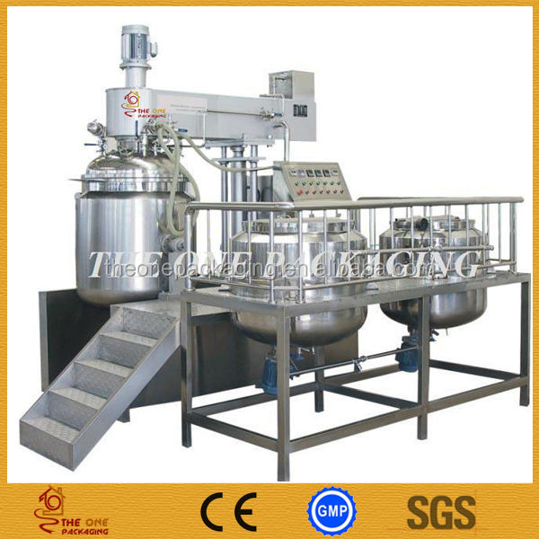 500L High Automatic Vacuum Emulsifying Mixer For Cosmetic Cream