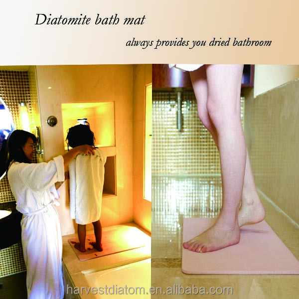 Factory direct sale dries quickly Eco-freindly diatomaceous bath mat