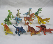 Custom environment friendly animal mini PVC plastic dinasour toy for kids