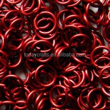 2015 hot High quality metal Volcano Red colored aluminum jump rings