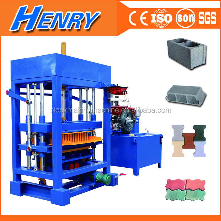 QT4-30 diesel engine Used concrete Block making machine Dubai, brick making machine price list in Mozambique