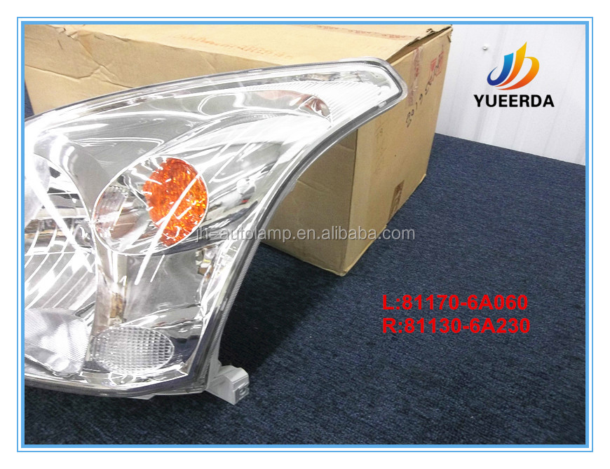 Headlight Lamp for Land Cruiser FJ120 Prado 2003 04 05 08 Auto Body Kits OEM 81170-6A060 81130-6A230