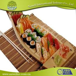 2015 Hot sell bamboo/wooden sushi boat With Logo