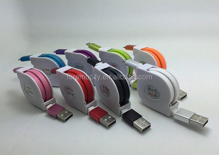 Best selling different types usb retractable cable for wholesale