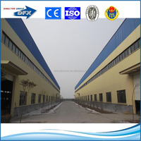 Low Cost prefabricated light steel structure sloping roof