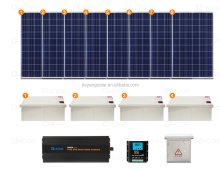 5kw grid tied solar power system off grid or on grid