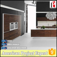 Modern Wood Grain Kitchen Cabinet Design for Home or Project