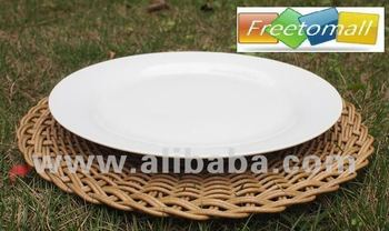 Freetomall Home & Garden Simple style round rattan vine placemats