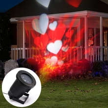 purple white heart Led Projector Light for Christmas decoration light