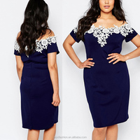 New arrival fashion OEM service plus size cocktail evening dress for fat lady