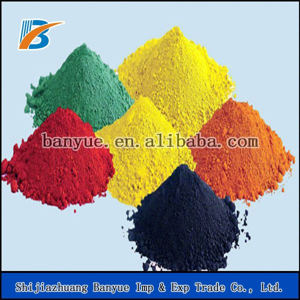 Factory sell red iron oxide and yellow pigments for making paint/ceramic tiles