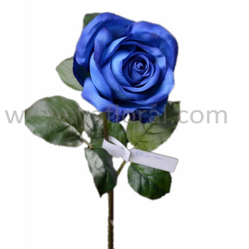 Decorative artificial silk rose long stem soft rose fabric for wedding
