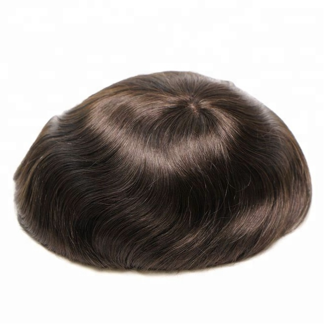 Factory <strong>price</strong> 100% Indian Human Hair Toupee For Men