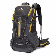 2018 frame mountain bag camping wateroof backpack outdoor camping hiking backpack, polyester backpack with rain cover