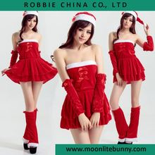 free shipping Sweet Tube Top red Christmas skirt value of 6 sets of Christmas clothing 2016 women dress for chrismas