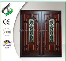 Solid mahogany double entry door design front door