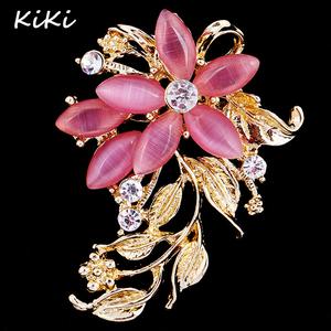 Rhinestone Opal Flower Brooch 66f4ae689fe4