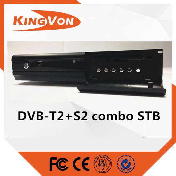 DVB-T2+S2 digital tv FTA combo set top box box with loop function