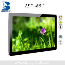 Indoor Android RJ45 Wifi HDMI tv monitor advertising lcd monitor for elevator and restaurants