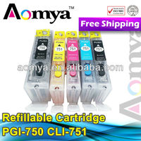 Refill ink cartridge for Canon PGI 750 / CLI 751 for Canon PIXMA MG 5470 cartridge
