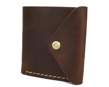 YD-1010 Amazon popular 100% genuine real cowhide leather passport holder wallet for men