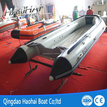 4.7m pvc material folding aluminum floor inflatable boat