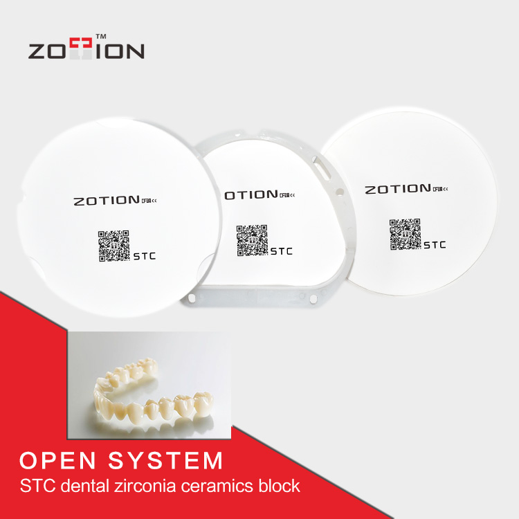 Zotion 95mm cad/cam porcelain denture teeth with good quality