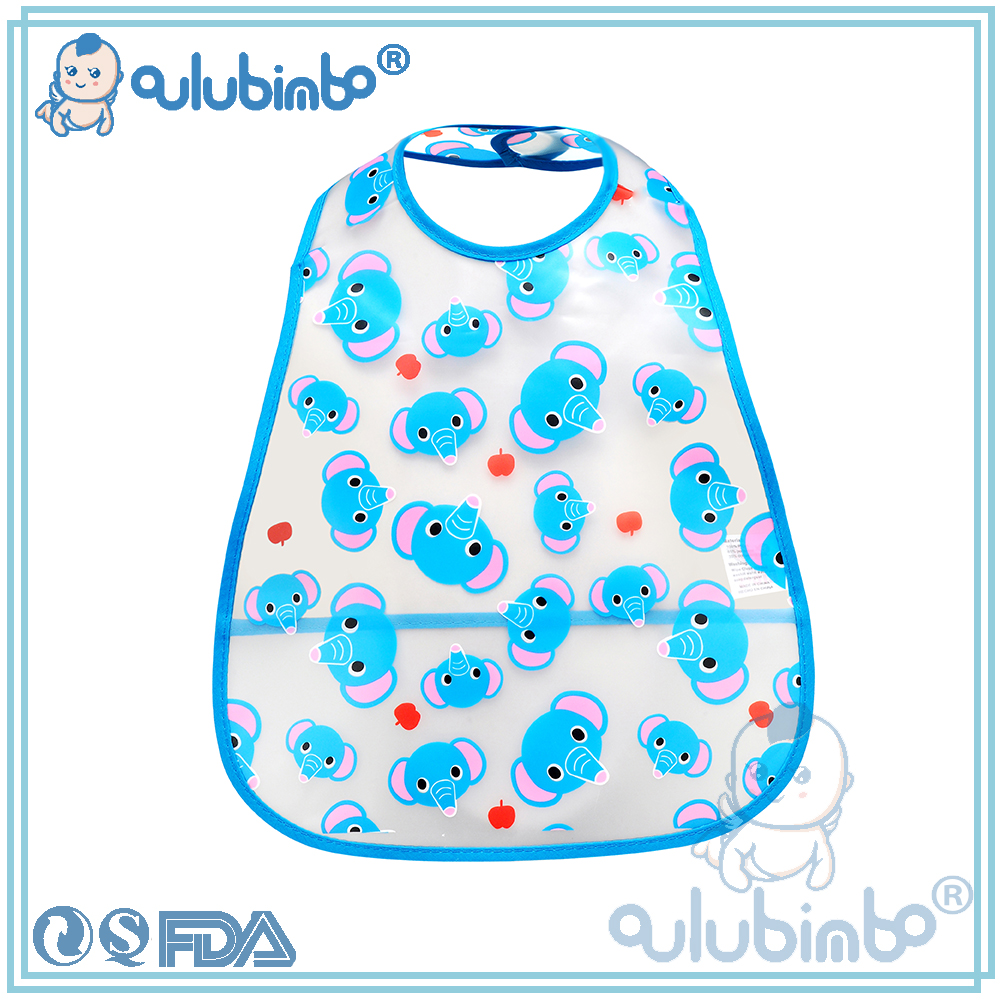 Hot Sale Baby Bibs Cartoon Printed EVA Material Washable and Reusable With Low Price