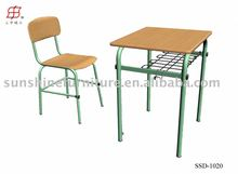 Steel furniture cheap single person school chair and desk