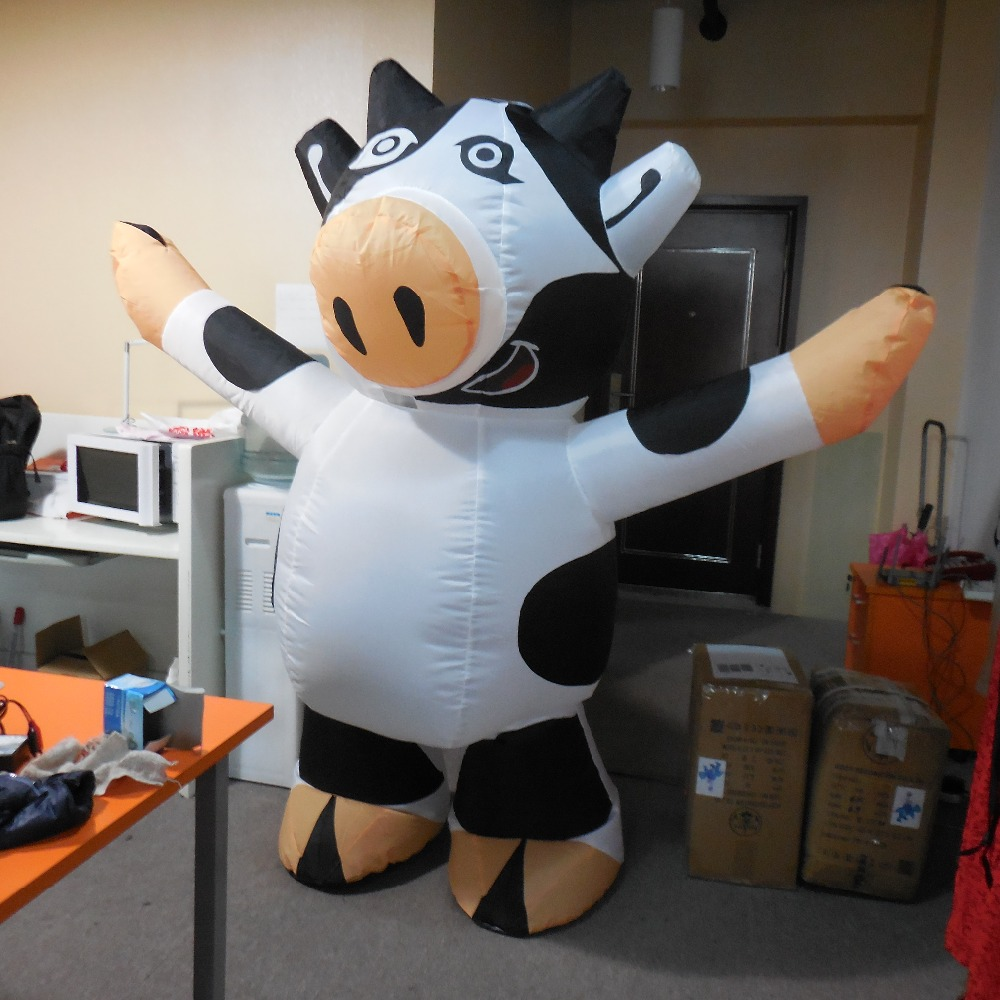 adult customize cow inflatable mascot costume