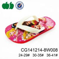 Wholesale low price soft plastic flip flops kids cartoon beach active soft EVA flip flop