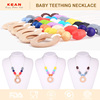 2016 new products kean jewellery round teething wood red bead necklace designs