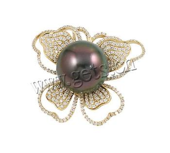 2015 Akoya Cultured Pearls 14mm 31x27mm 14k gold butterfly pendant