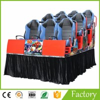 6 DOF Chair Hydraulic/Electric System Wholesale 7D Cinema Game Machine 6 Seats Mobile 5D Cinema