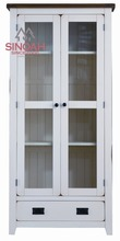 Solid Oak Display Cabinet/Glass Door Display Cabinet/oak furniture