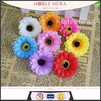 55mm small sunflower head bridal hairpins accessories flowers artificial silk fabric decoration wedding hair combs flower head