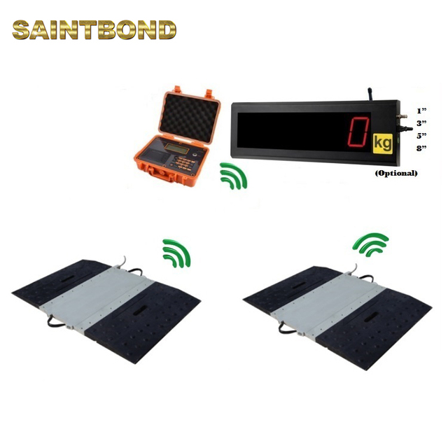 LED 30T Wireless Static And Dynamic Portable Axle Weighing truck scale