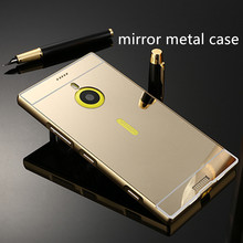 Aluminum Metal Bumper Mirror Hard Back Phone Case Cover For Nokia Lumia 1520