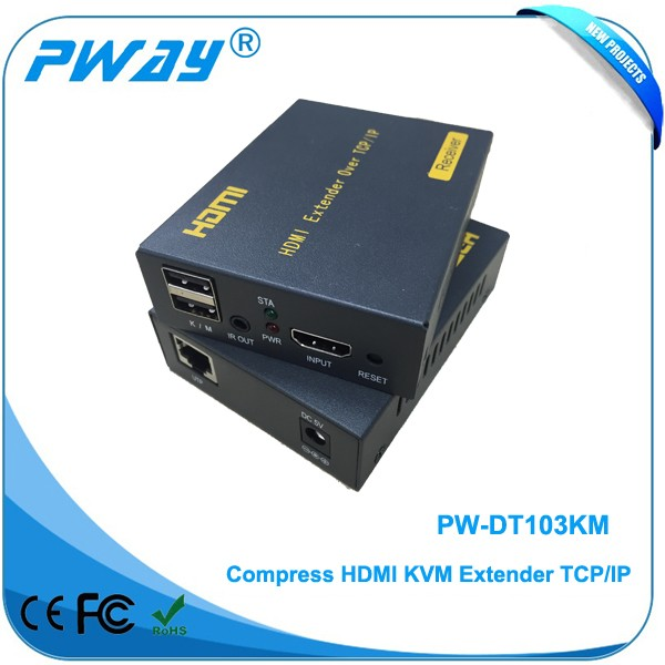 alibaba wholesale price Pinwei PW-DT103KM HDMI extender Many-To-Many HDMI Over Network Adapter with TCP/IP Control