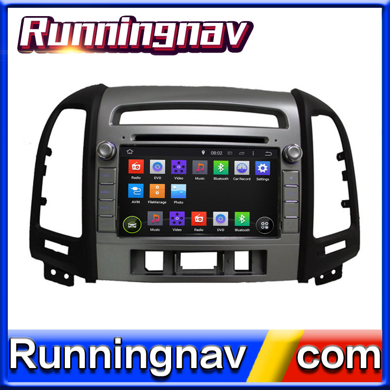 "7"" Android For Hyundai Santa Fe 2012 2 Din Quad Core / Qcta Core HD Car DVD Player GPS Navigation Radio"