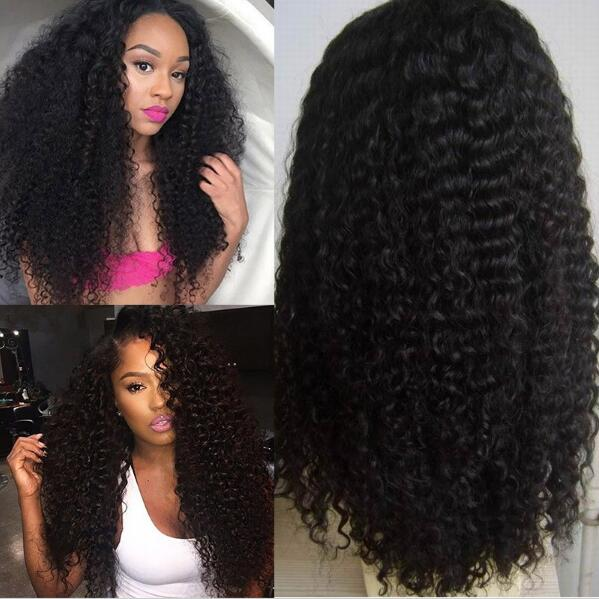 Hot Selling Unprocessed 7A full lace 100% Human hair wig with natural black