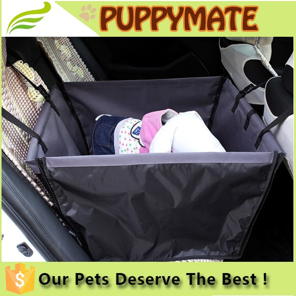 600D PVC waterproof pet car seat bag/small dog carrier bag