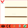 Coral color display board /melamine slatwall mdf board /mdf slot board factory
